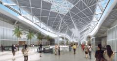 Rendering of the interior of Shenzhen World Exhibition and Convention Center, currently under construction near the Shenzhen International Airport in China.