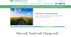 ACCME's website redesign