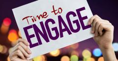 TIme to Engage sign