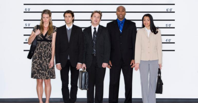 non-criminals standing in a lineup