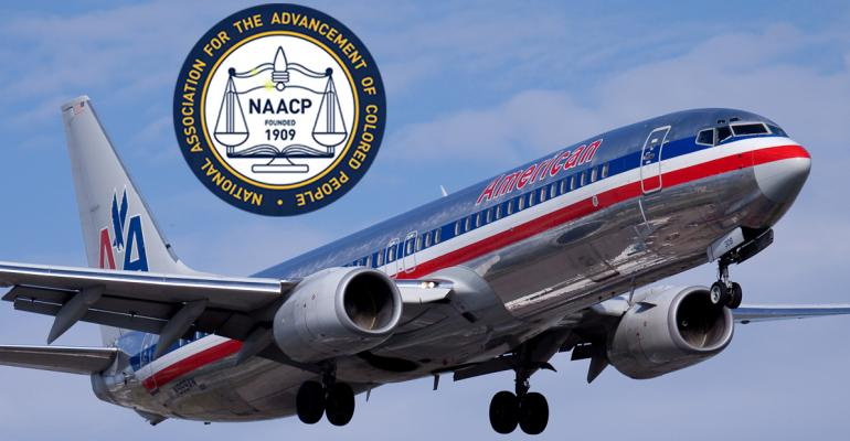 NAACP logo and Airplane