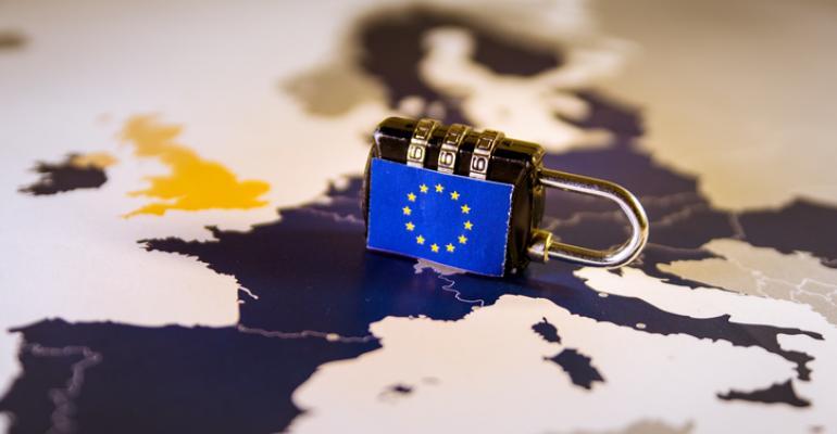 GDPR padlock over Europe
