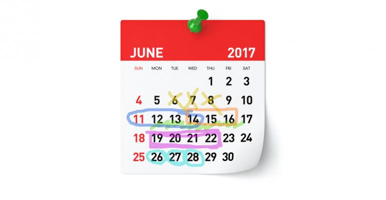 June meetings calendar
