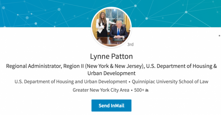 Lynne Patton LinkdIn