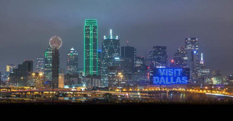 Omni Dallas Hotel displays the Visit Dallas logo