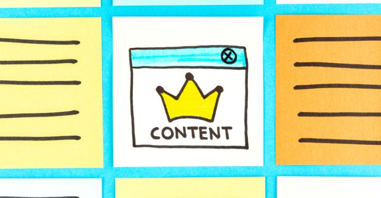Content with a crown