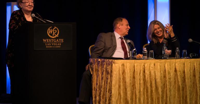 Patti Shock on panel at the 2016 Las Vegas Corporate Invitational