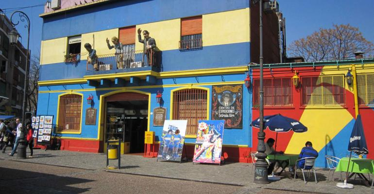 The colorful artsy La Boca neighborhood in Buenos Aires is a mustsee attraction