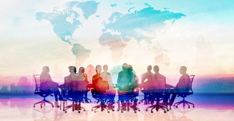Team meeting globally