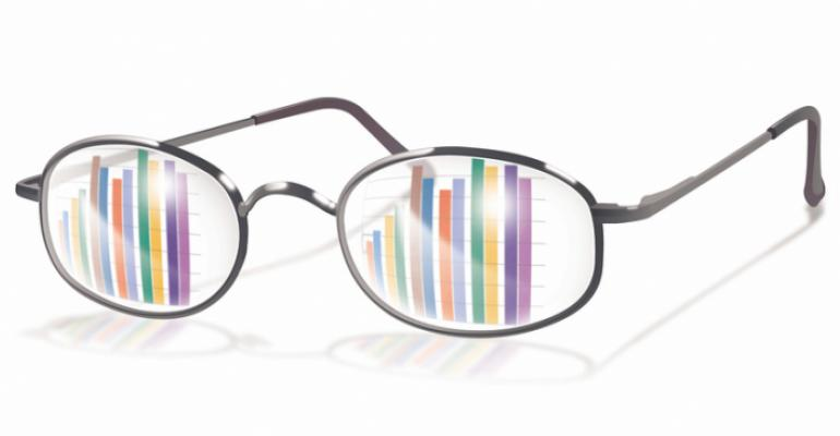 Glasses with reflections of graphs