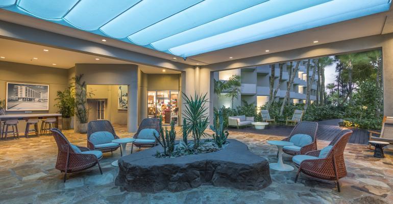 Hilton Aruba's newly renovated lobby