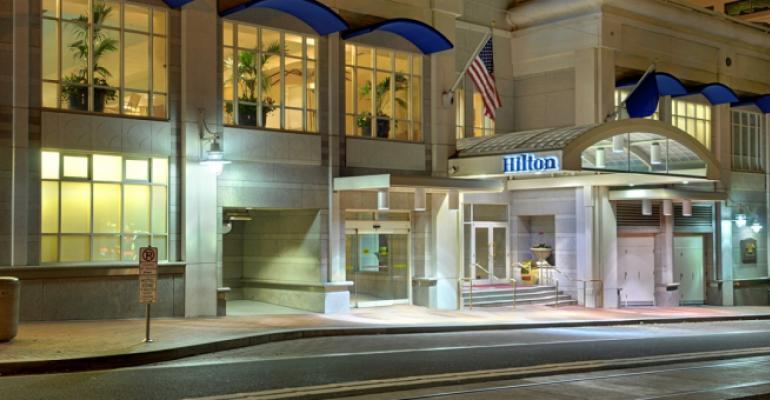 Exterior of the Hilton Portland