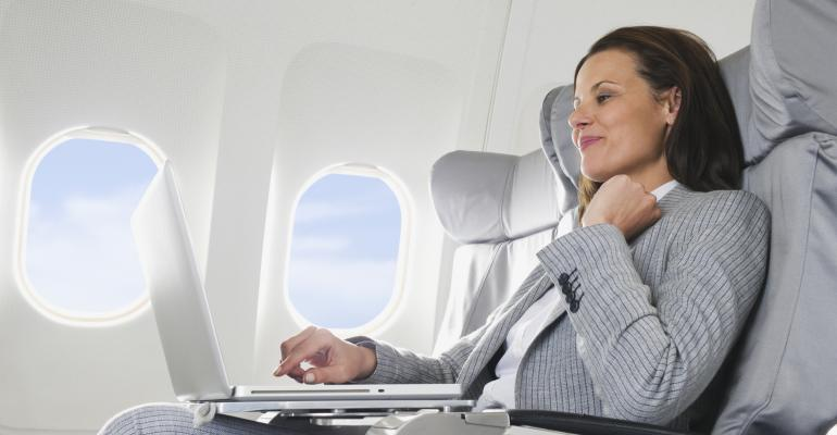 Laptops on airplanes