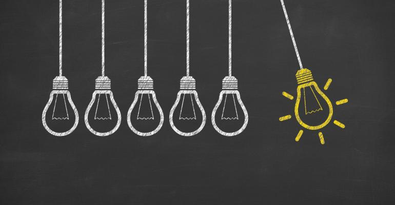 lightbulbs lighting up new ideas