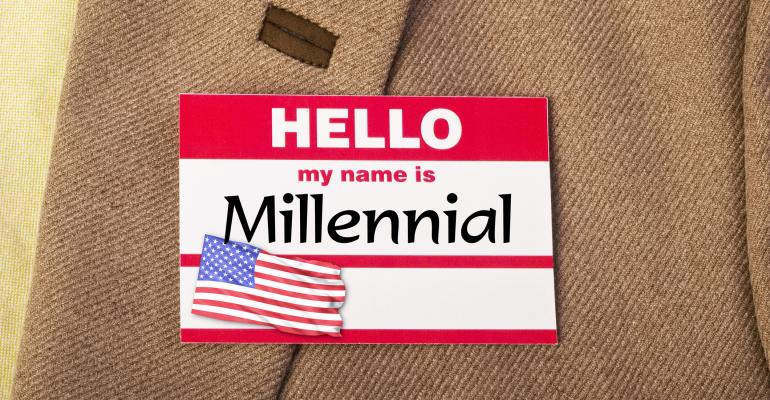"Hello, my name is ""Millennial"" name badge"