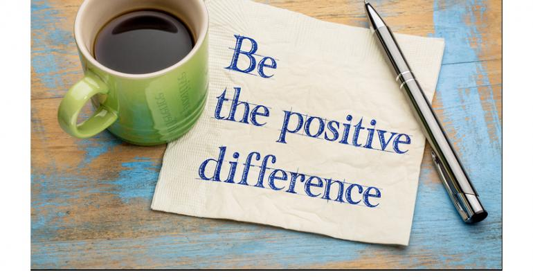 Be a positive difference