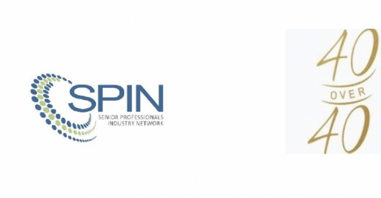 SPIN:40 over 40 logo