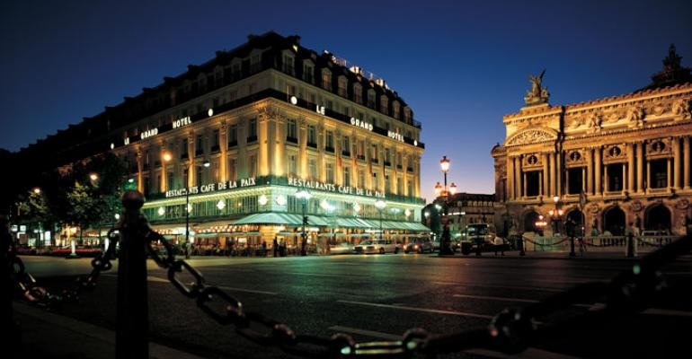 The InterContinental Paris Le Grand stands directly across the street from the Opra Garnier