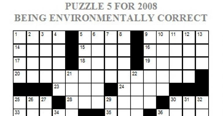 Puzzle 5, 2008 - Being Environmentally Correct