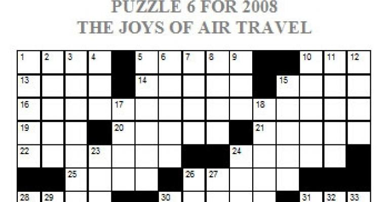 Puzzle 6, 2008 - The Joys of Air Travel