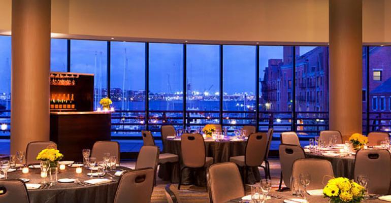 Boston Marriott Long Wharf39s Harbor View Ballroom