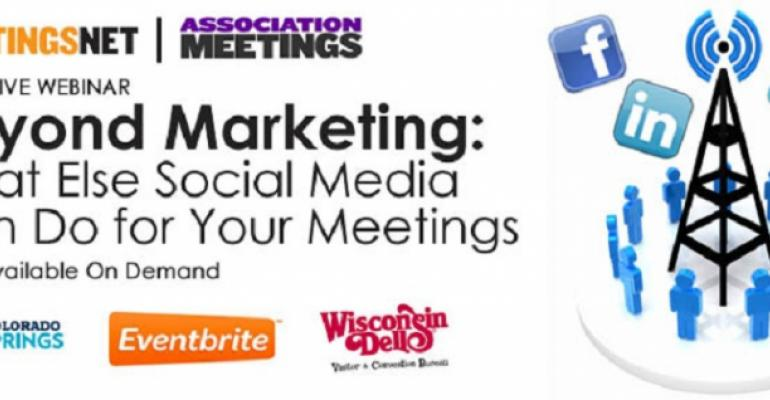 Beyond Marketing: What Else Social Media Can Do for Your Meetings