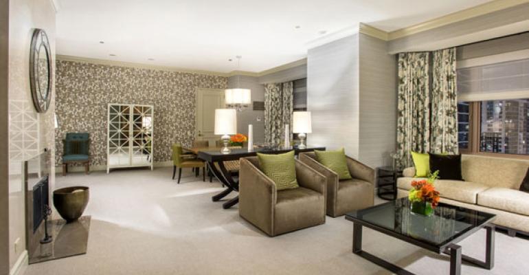 Fairmont Chicago Millennium Park39s newly renovated Grand Suite parlor
