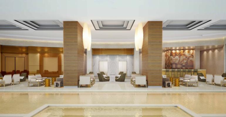 The Waldorf Astoria Panama39s golden pool