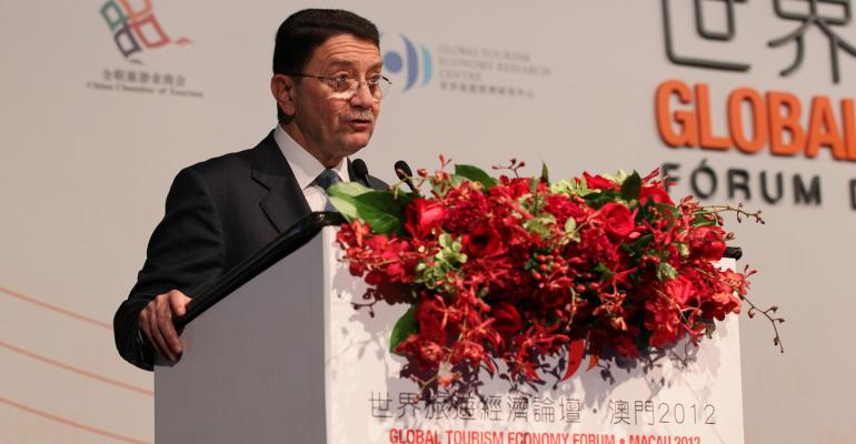 UNWTO SecretaryGeneral Taleb Rifai opens the Global Tourism Economic Forum