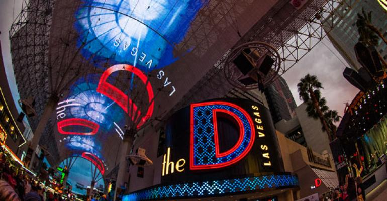 What39s purported to be the world39s largest video screen greets guests entering Las Vegas39 The D hotel on Fremont Street