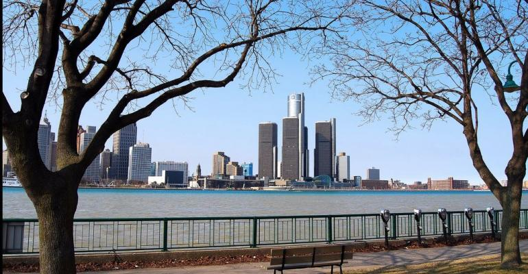 Renaissance Center view by Patricia Drury