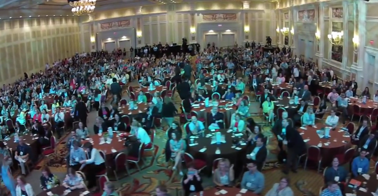 Drone39seye view of the Cvent Summit meeting in summer 2015 Drone use is one of the top meeting tech trends identified recently by IACC