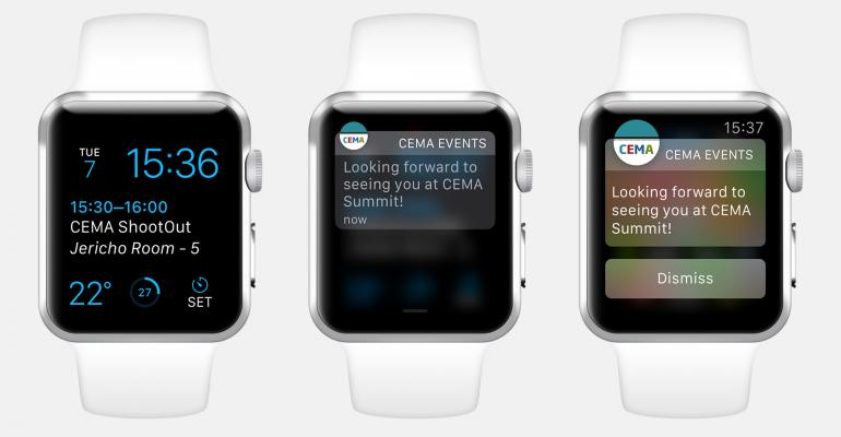 First Apple Watch Conference App Launches at CEMA