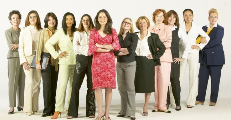 Group of confident businesswomen