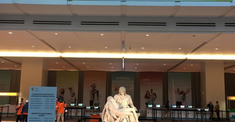 At the Pennsylvania Convention Center this week a replica of The Pieta