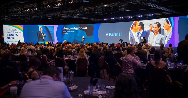 Cvent founder and CEO Reggie Aggarwal welcomes attendees at Cvent Connect 2015
