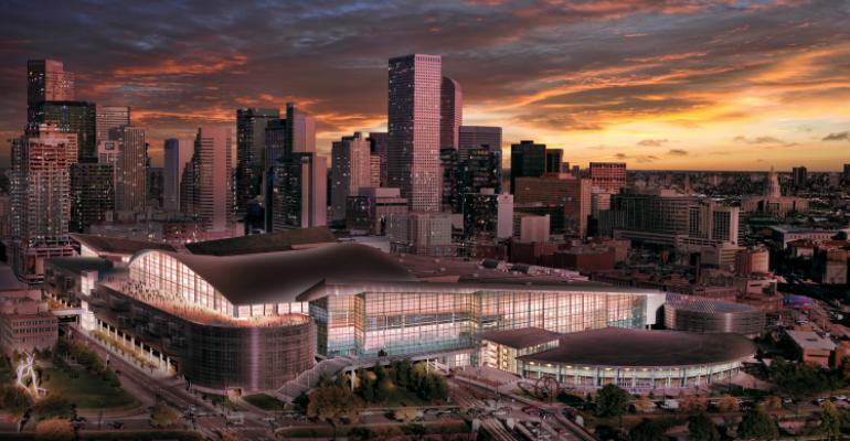 Rendering of the expanded Colorado Convention Center