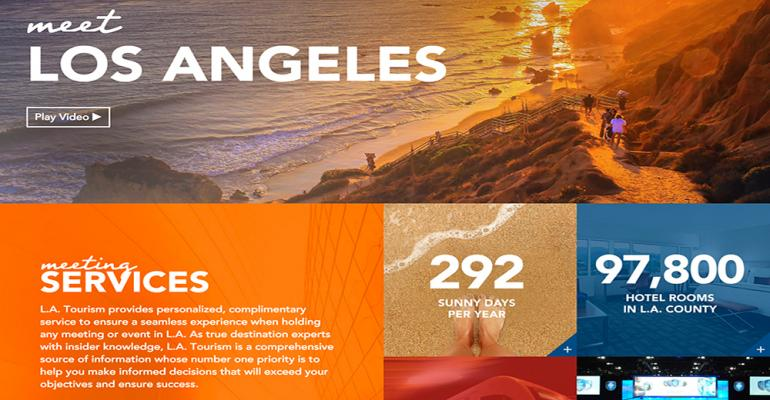 L.A. Creates Meeting Planner Web Site
