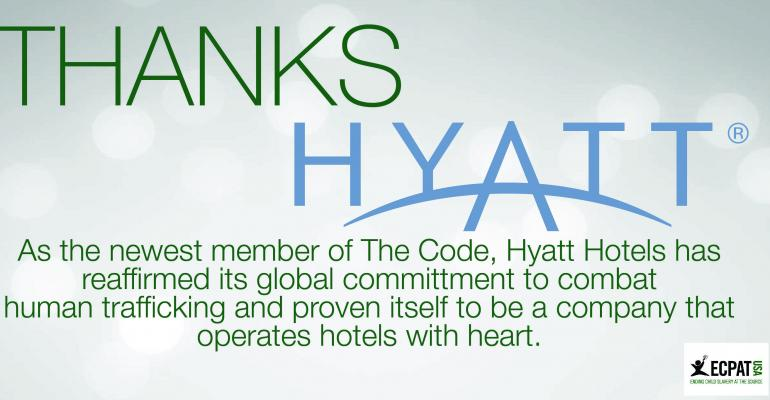 Hyatt Signs the ECPAT Code, Reinforces Commitment to Protect Children