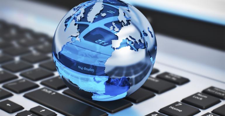Globe on a keyboard