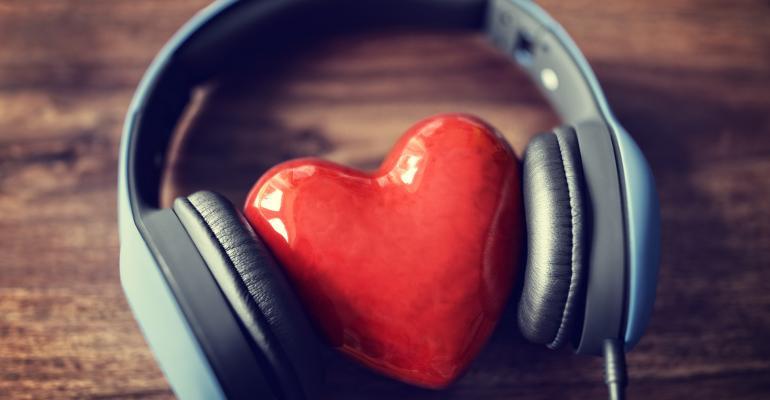 Heart and headphones