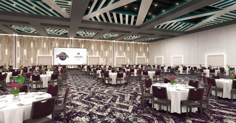 Ballroom at the Loews Sapphire Falls Resort in Orlando