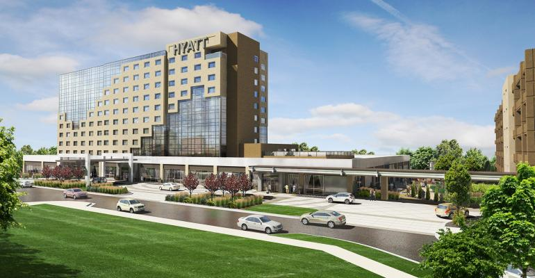 Rendering of the new The Hyatt Regency AuroraDenver Conference Center