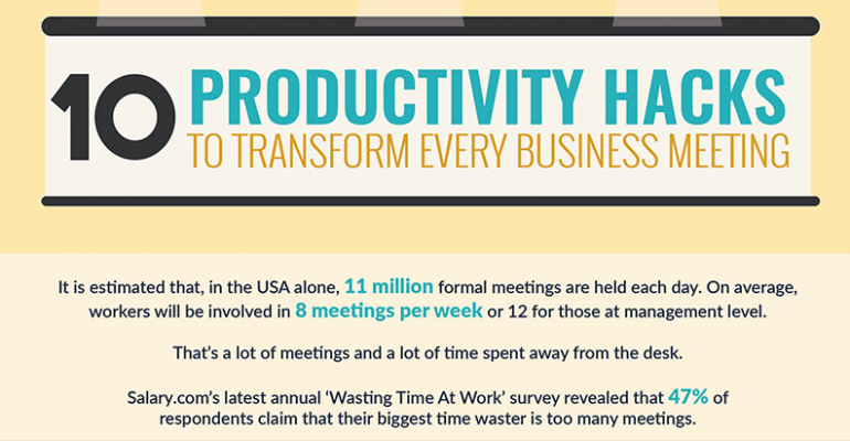 10 productivity hacks for business meetings