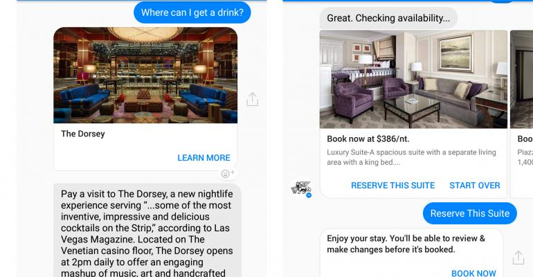 Venetian Booking Chatbot